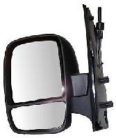 Fiat Scudo Van [07 on] Complete Cable Adjust Wing Mirror Unit - Black [Split Glass]